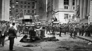 O bombardeio de Wall Street em 1920